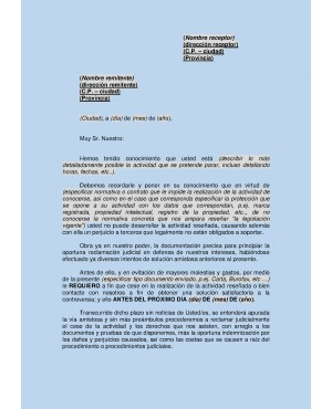 Cartas y reclamaciones edocument model s l for Solicitud clausula suelo